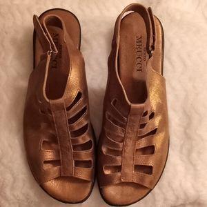 SESTO MEUCCI Italian leather gladiator sandal